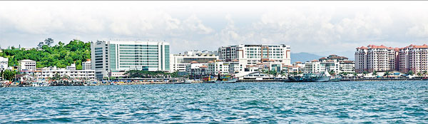 EASING TENSION: Photo shows scenic view of Kota Kinabalu, Sabah. It is crucial for the tension in Sabah to be settled in a rational manner.