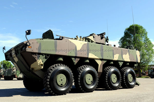 HIGH-TECH: AV8, an armoured car for the 21st century, will be revealed to the public during the 80th Army Day anniversary celebration in Port Dickson. — Bernama photo