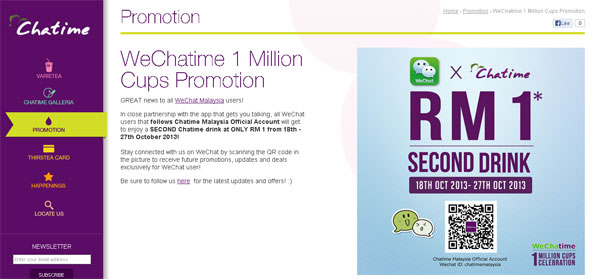 WeChat and Chatime offer 1 million cups of Chatime | Borneo