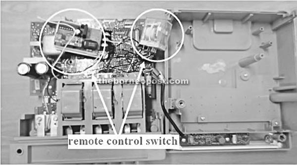 Using remote control switch to steal electricity | Borneo