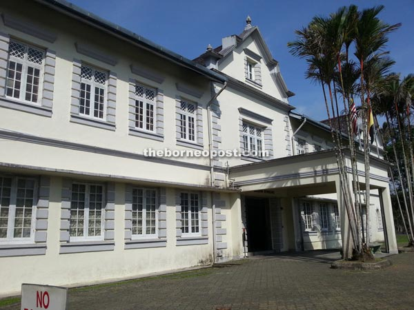 One of the imposing buildings at the present-day Sarawak Museum.
