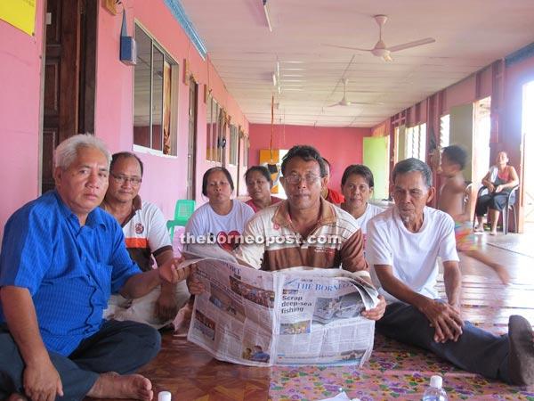 Longhouse folk of Rumah Selat waiting eagerly for the BAT team.
