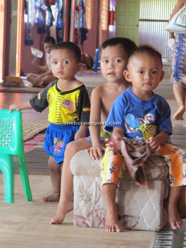 Children of Rumah Selat. The lack of electricity is a predicament for the longhouse folk of Rumah Selat.