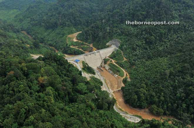 An aerial view of Bengoh Dam.