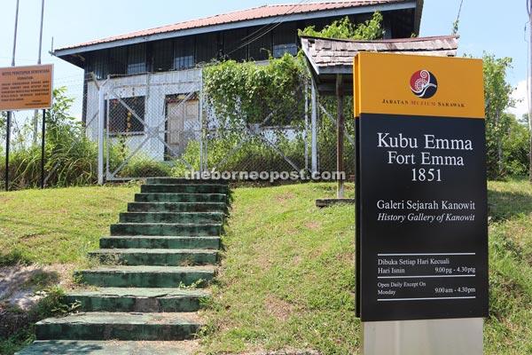Fort Emma built in 1859 by Rajah James Brooke. It was named after Emma Brooke, sister of Rajah Charles Brooke.