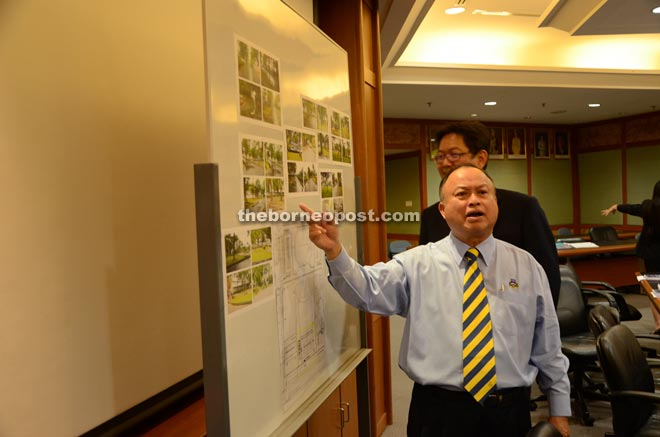 Chan proving to reporters that MBKS Stadium car park is safe for the Bersih 4.0 rally and does not pose hazard as claimed by the organisers.