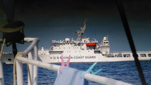 According to local fishermen, the China Coast Guard vessel is still anchored at Luconia Shoals.