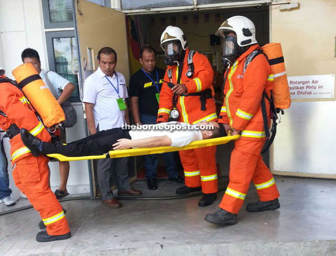 Miri Hospital Staff Members Perform Well In Surprise Fire