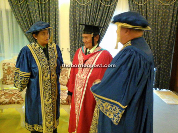 A photo of Awang taken after the graduation ceremony.