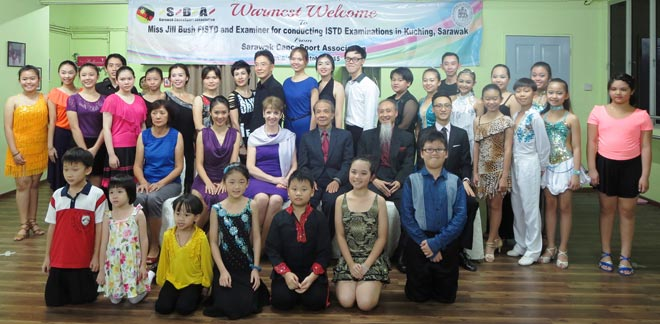 The dancers and Jill Bush (seated third left) with John Chong (fourth left), Chester Lim (seated fifth left), Alexis Jap (seated second left) and Randell Lim (seated right).