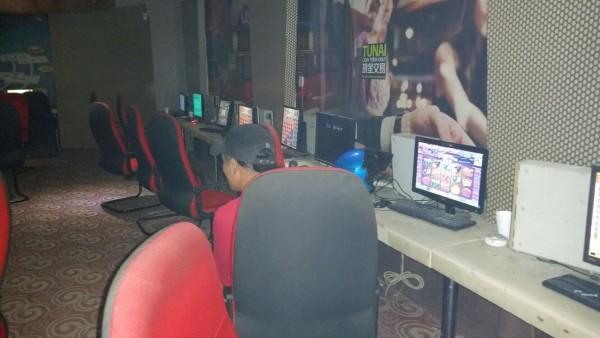 A photo shows the inside of the premises in Batu Kawa. - Photo courtesy of state CID