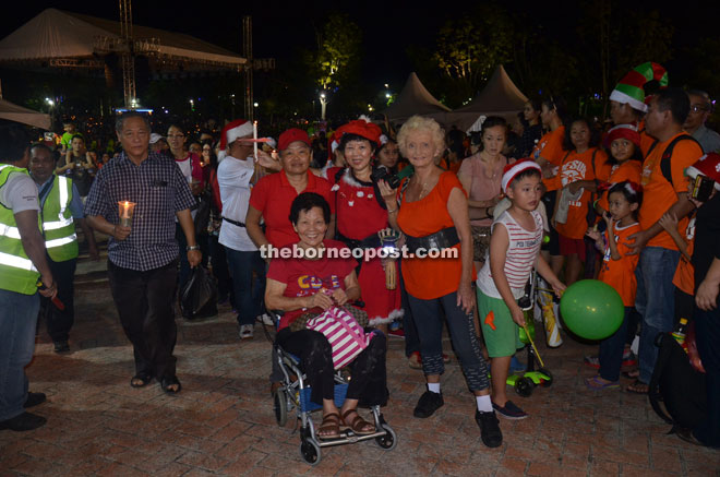 Young and old alike, including those who are wheelchair-bound, are involved in the parade.