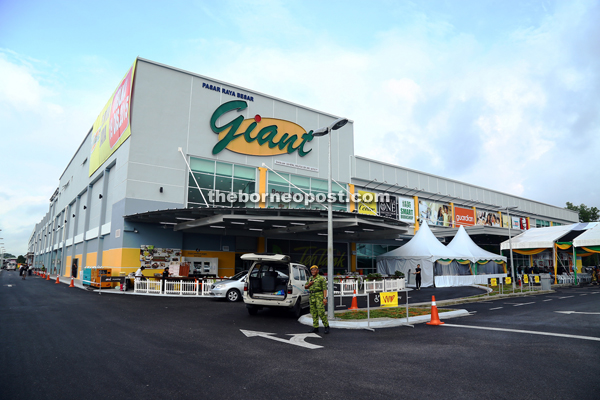 Newly opened Giant Petra Jaya Mall, which is its biggest in the state.