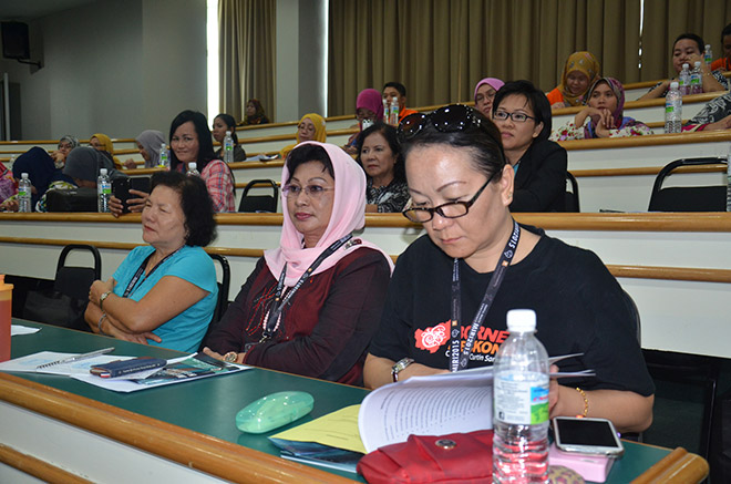 (Front row, right) Dr Wong and a section of the conference participants.