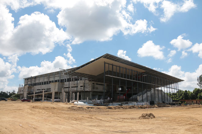 Sibu's Indoor Integrated Sports Centre in the making.