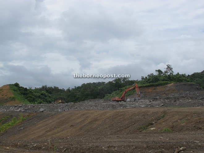 Land around Belaga town including the landfill area has been cleared to give way to housing development.