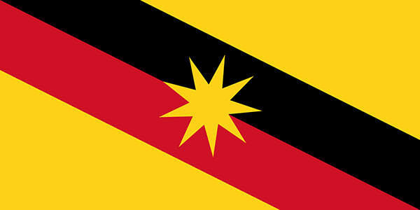 The current Sarawak state flag has been in use since 1988.