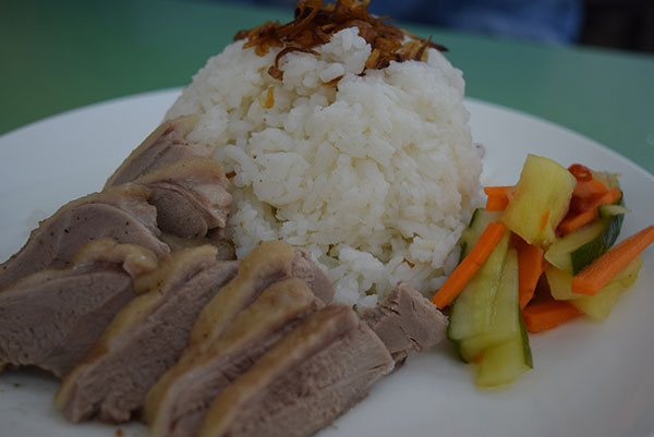Teochew duck rice.