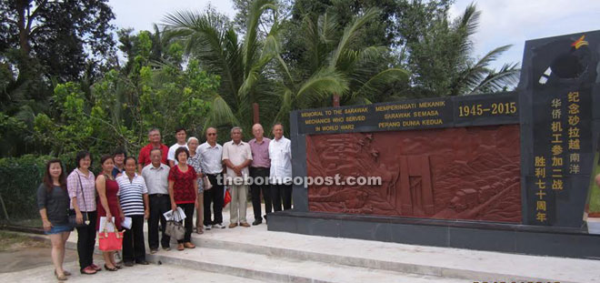 Family members of the late mechanics during their visit to the memorial.