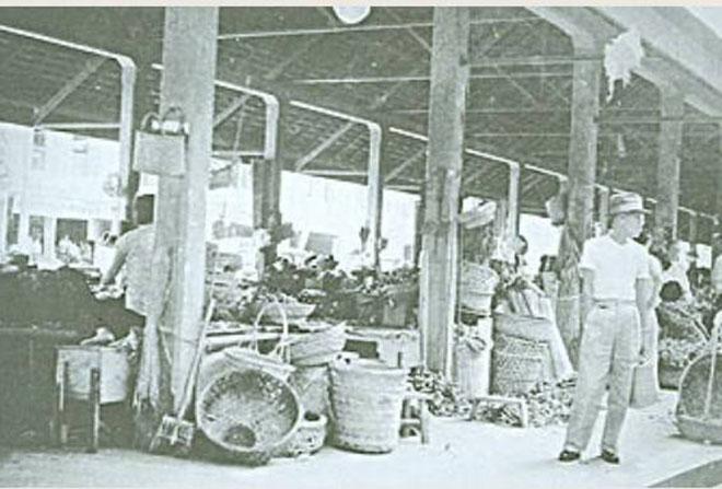 The Gambier Street market was a bustling place back in its heyday.