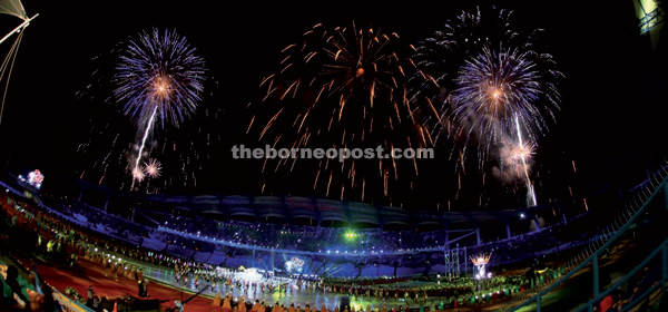 The fireworks display.