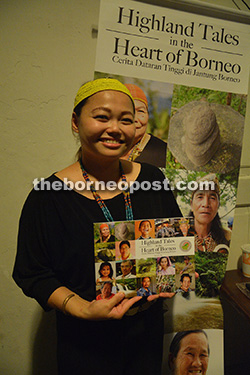 Alicia Ng introduces the 'Highland Tales in the Heart of Borneo' book which she authored.