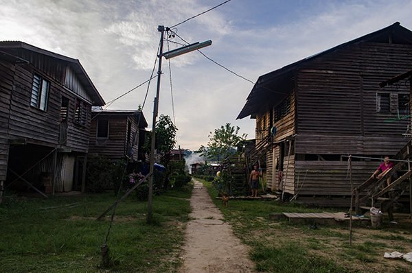 Photo shows the village of Long Luyang.