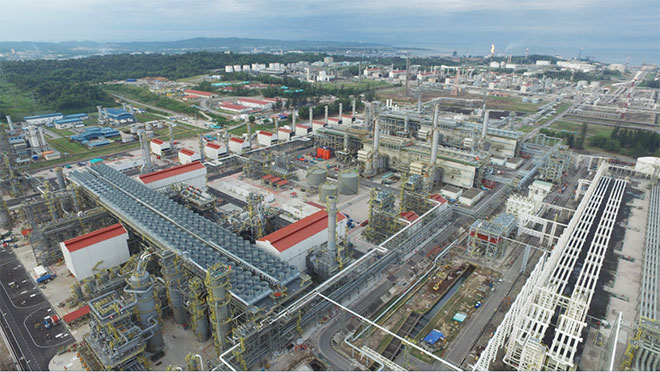 An aerial view of Train 9. Train 9 reached the Ready for Start-Up (RFSU) status in June 2016. It has a production capacity of 3.6 million tonnes per annum and is expected to commence commercial operations in the first quarter of 2017.