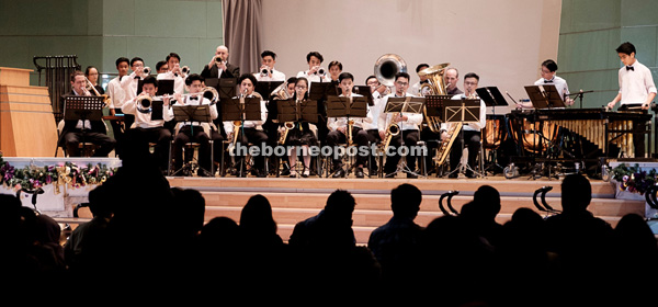 Onyx Brass shares the stage with SJS Band.
