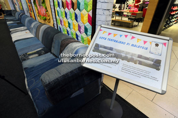 The Longest Sofa In Malaysia Is Now On Display At Cityone Megamall Until  Dec 29.