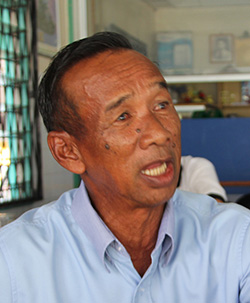 Sharkawi speaks to the The Borneo Post at the PBB operations room in Lundu.