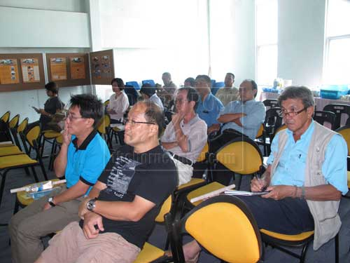 ATTENTIVE: A section of representatives from government agencies and the private sector attending the briefing.