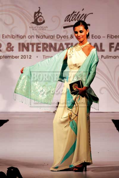 STYLISH ELEGANCE: Songket is a versatile fashion statement.