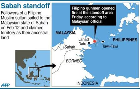 Lahad Datu standoff (AFP Graphic)