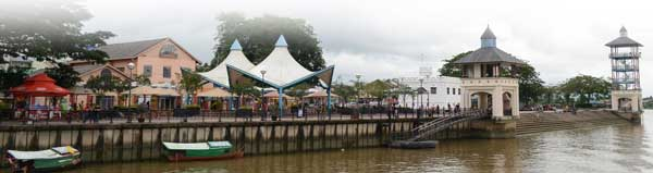 GOOD FOR A CRUISE: Cruising up and down Sungei Sarawak can be a relaxing and enjoyable experience for Kuching folk.