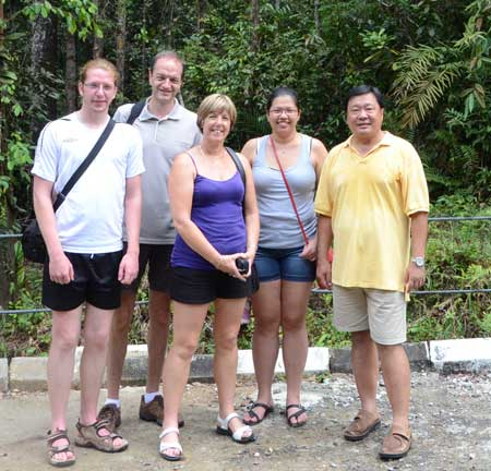WITH KIWI FRIENDS: Heng (right) and daughter Cass (second right) with the Chaplins from New Zealand.