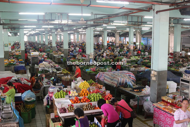 A parade of colours at Sibu Central Market which is the largest wet market in Malaysia.