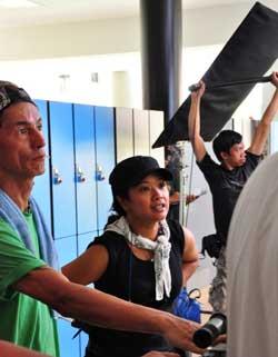 Siti Kamaluddin directing on set.