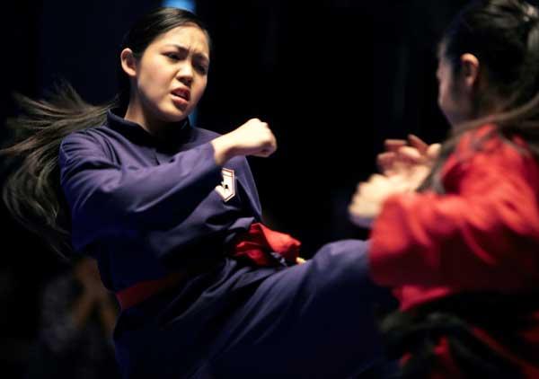 Liyana and Maharasyi in a fighting scene.