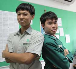 Devin Chee Pang (left) and Zachary Aw Zheng Quan will play the role of Caliban and Prospero respectively.