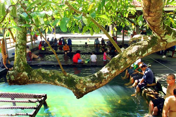 Some of the visitors at the hot spring.