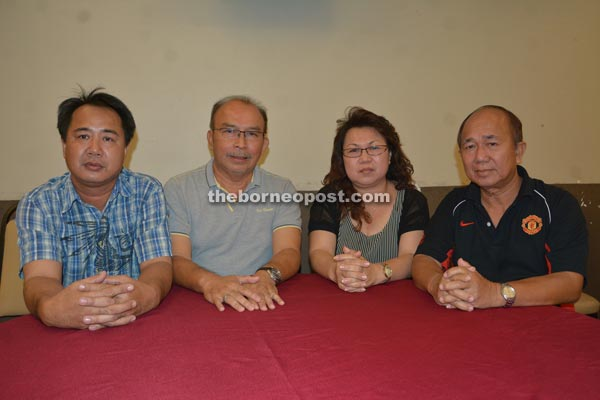 (From left) Ambrose, Paulus, Uchi and Barieng are working to make this year's Borneo Cultural Festival a hit.