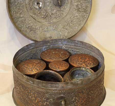 An antique betel quid box.