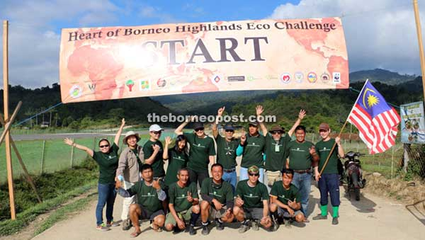 Adventure beckons for the eco-challengers – visitors, villagers from the highlands and media practitioners – before the participants start their walk to Bario in the Heart of Borneo (HoB) Highlands.