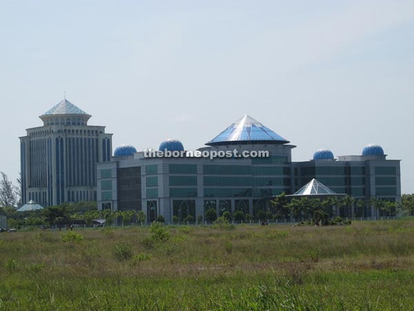 RECODA headquarters and behind it, the Pehin Setia Raja government complex.