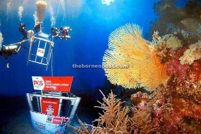 The deep sea post box.