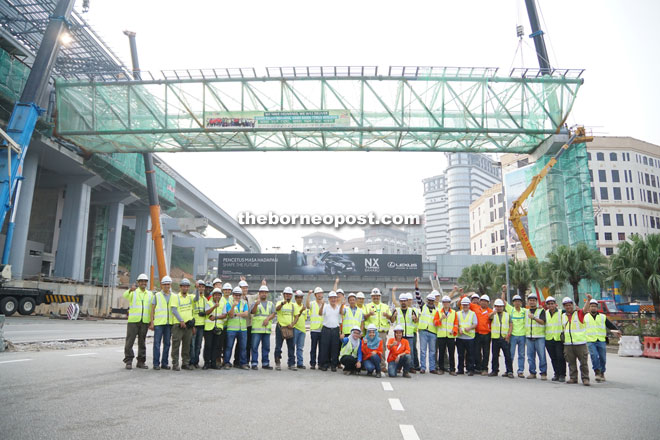 The jubilant Naim MRT team upon successful completion of installation works.