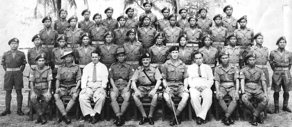 File photo of the first platoon of Iban trackers taken from the 'Winged Soldiers' website.