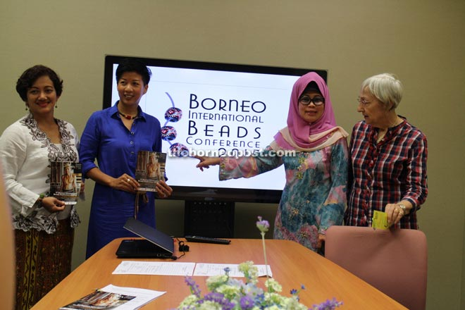Fatimah (second right) in a group photo with Bibco directors (from right) Heidi, Rosemary Wong and Lyn Alhady.