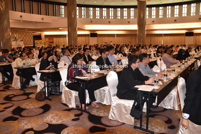 Participants at the one-day Latest Development for The Sarawak Workforce Seminar 2015.